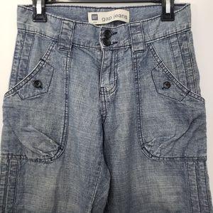 GAP jeans 100% Cotton light pants, high rise siz 1